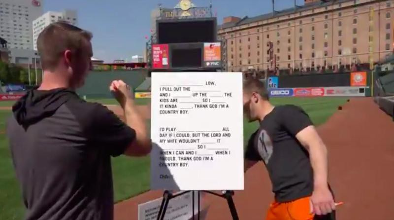 Lyrics game for Baltimore Orioles players