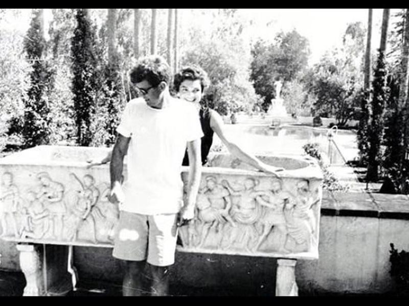JFK and Jackie O on their honeymoon