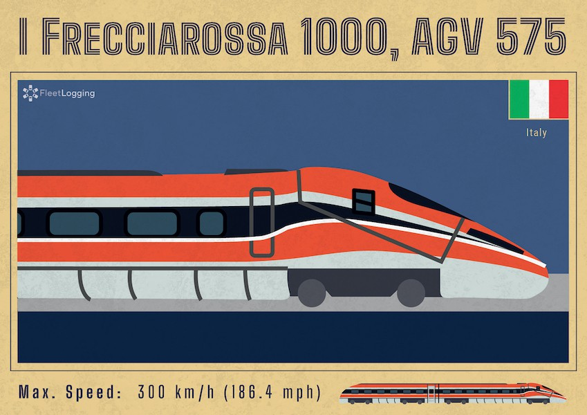 Frecciarossa 1000, AGV 575 trains, Italy