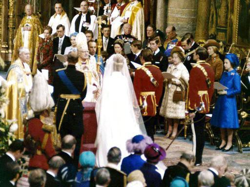 Princess Anne and Mark Phillips' wedding