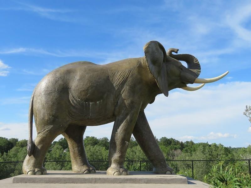 Statue of Jumbo the Circus Elephant in Ontario