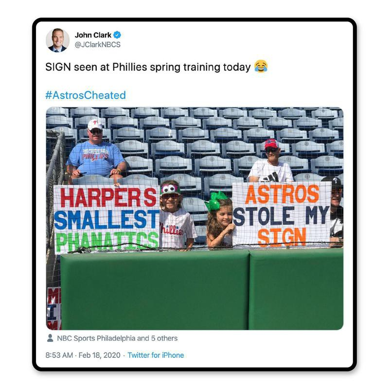Spring training signs