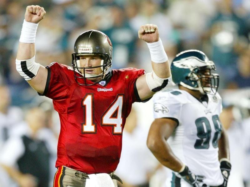 Tampa Bay Buccaneers quarterback Brad Johnson