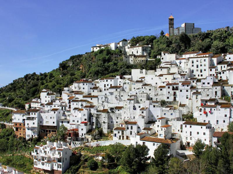 Casares white village in Andalusia, Spain