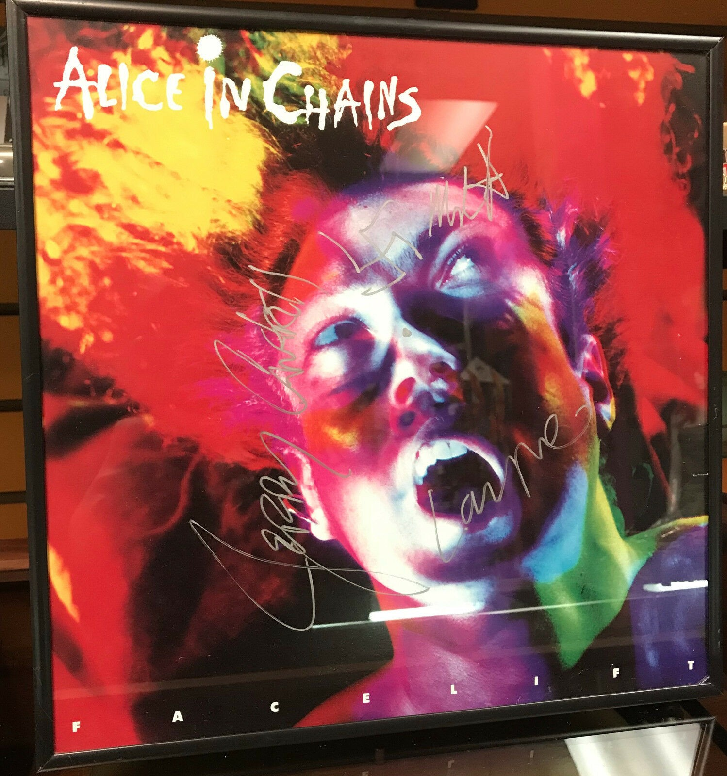 Alice in Chains signed poster