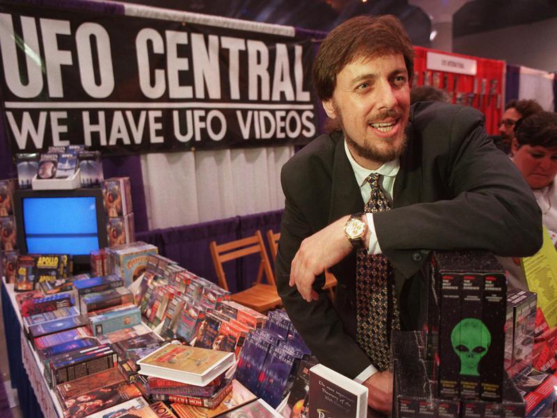 Man selling UFO merch