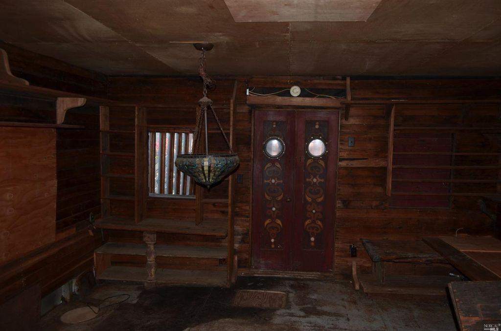 Shel Silverstein's houseboat before renovation