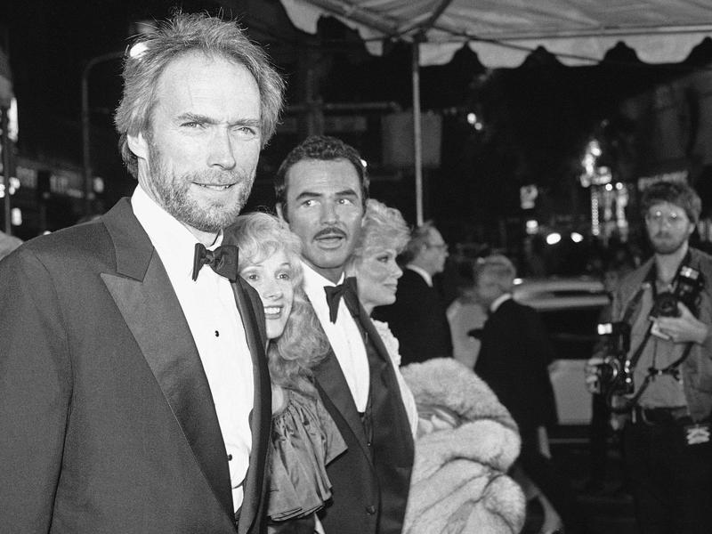 """Clint Eastwood, with Sondra Locke (center left), Burt Reynolds (center right) and Loni Anderson (right), arrives for the 1984 premiere of the film """"City Heat""""  in Los Angeles."""
