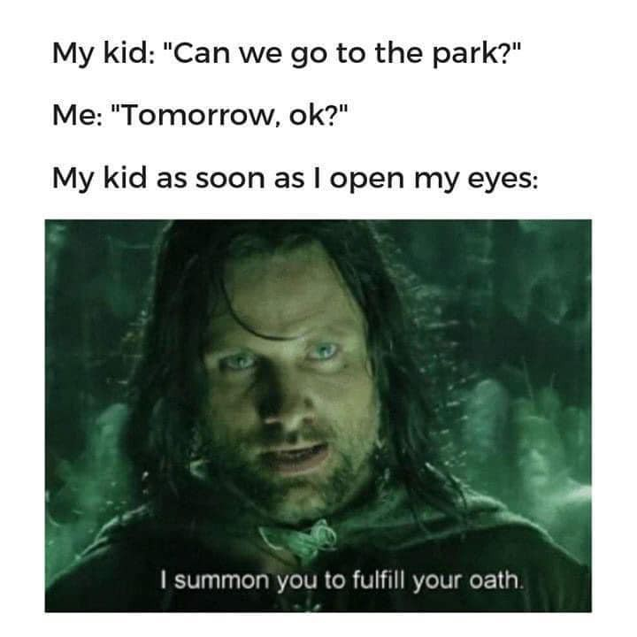 Going to the park meme