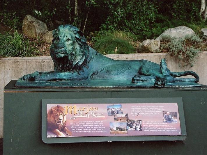 Marjan the Lion memorial in Kabul, Afghanistan