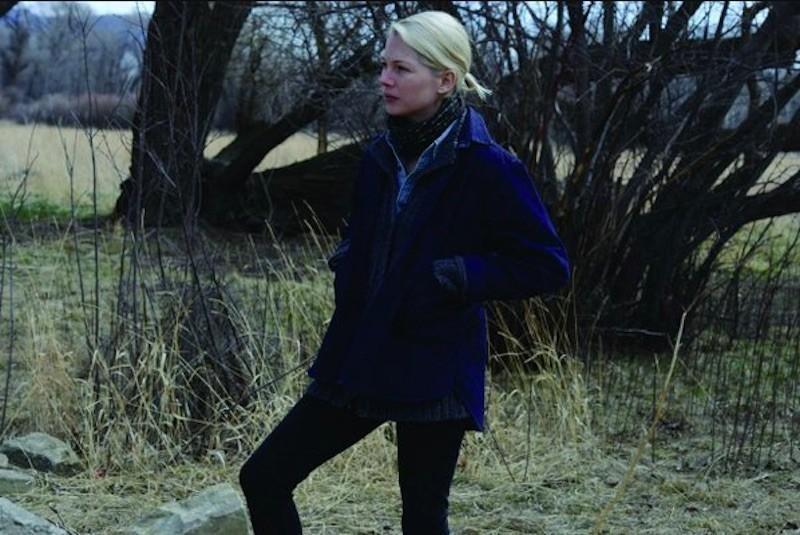Michelle Williams in the nature of Montana
