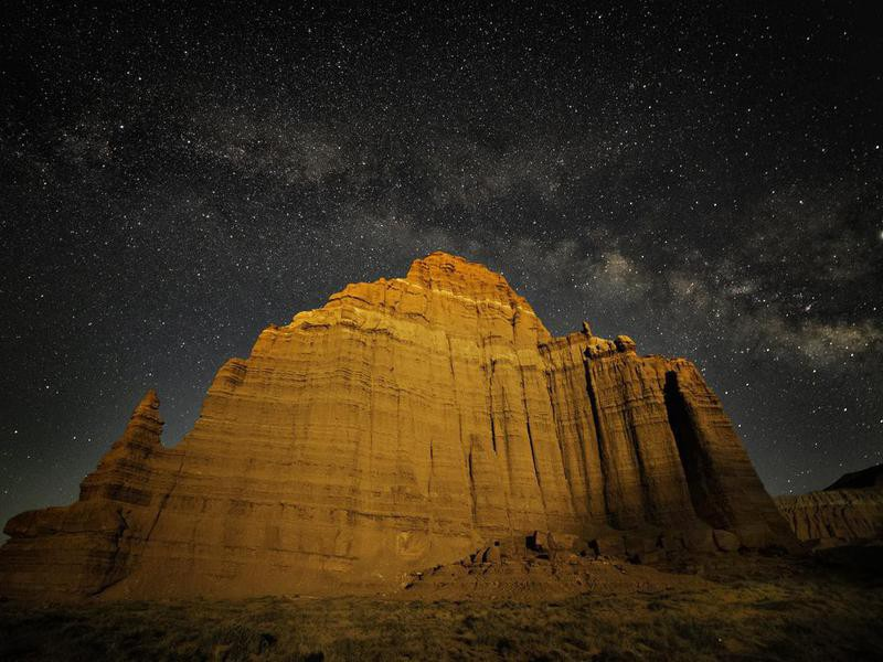 Milky Way over Temple of the Moon, Cathedral Valley