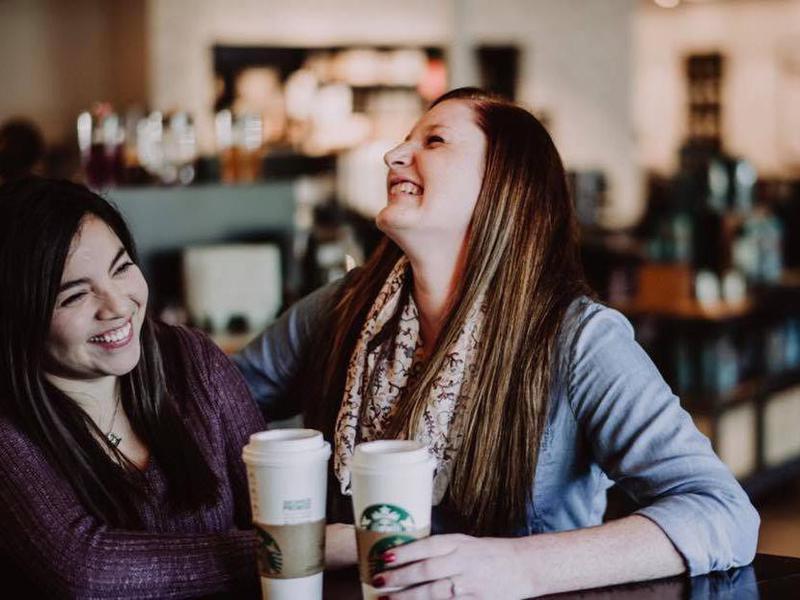 Couple at Starbucks