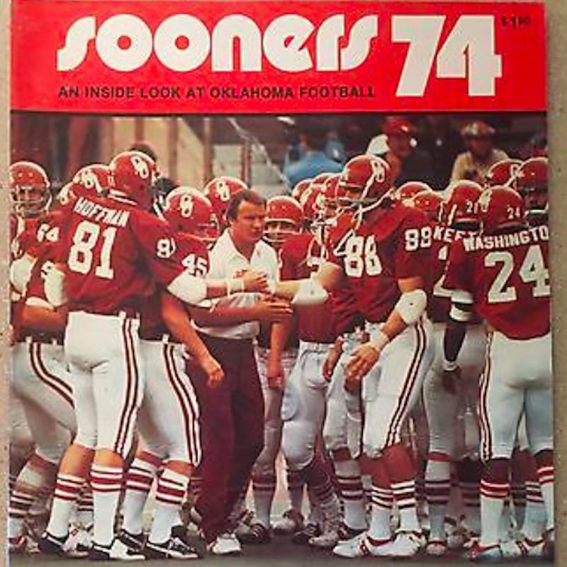 1974 Oklahoma Sooners with their coach