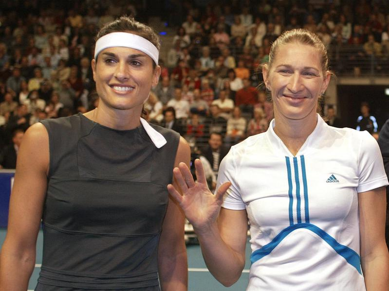 Gabriela Sabatini and Steffi Graf