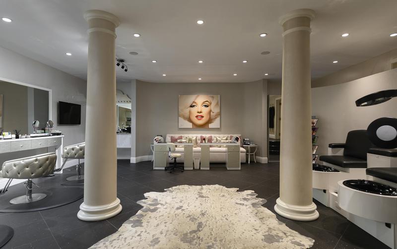 Indoor beauty salon