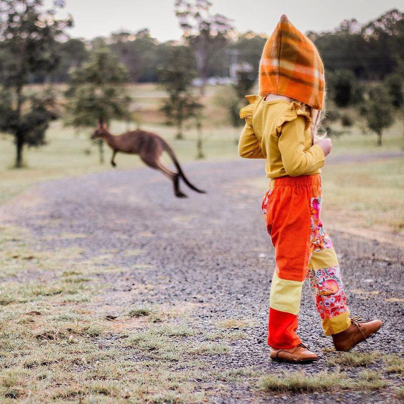 Kangaroo photobomb