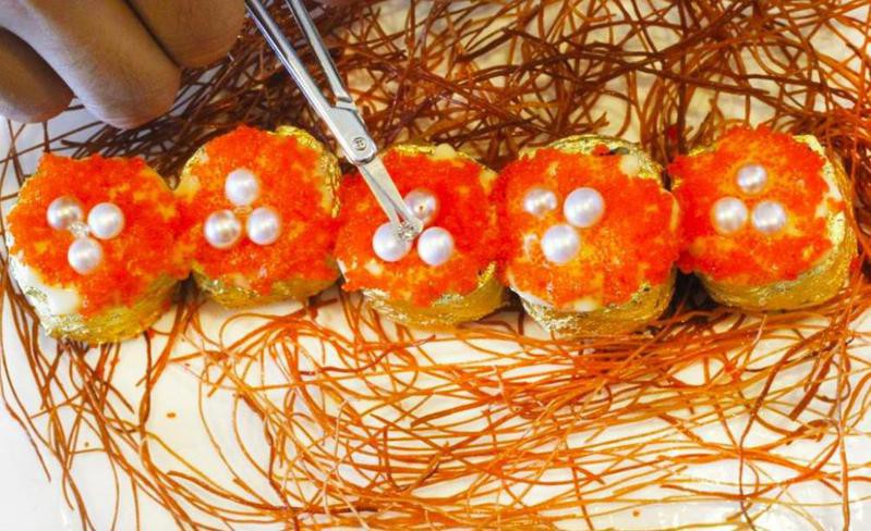Sushi with Diamonds and Gold