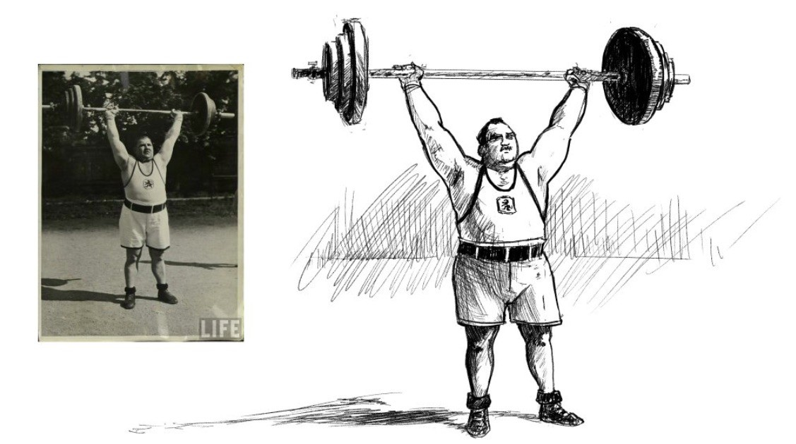 Josef Strassberger, Olympic weightlifter