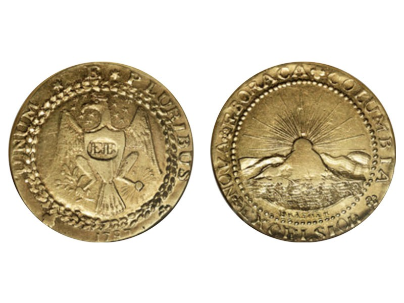 1787 Brasher Doubloon EB on Breast