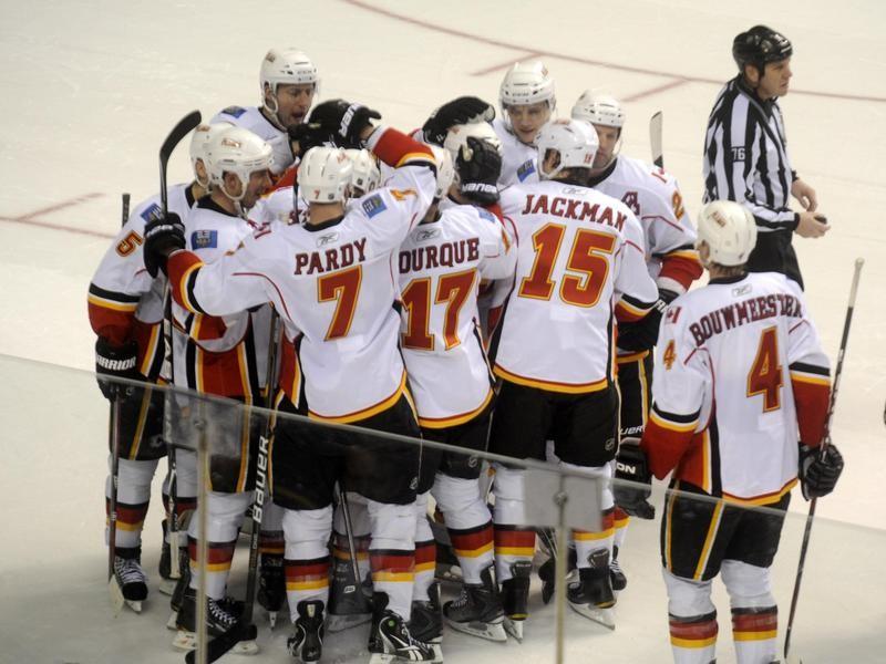 Calgary Flames celebrate