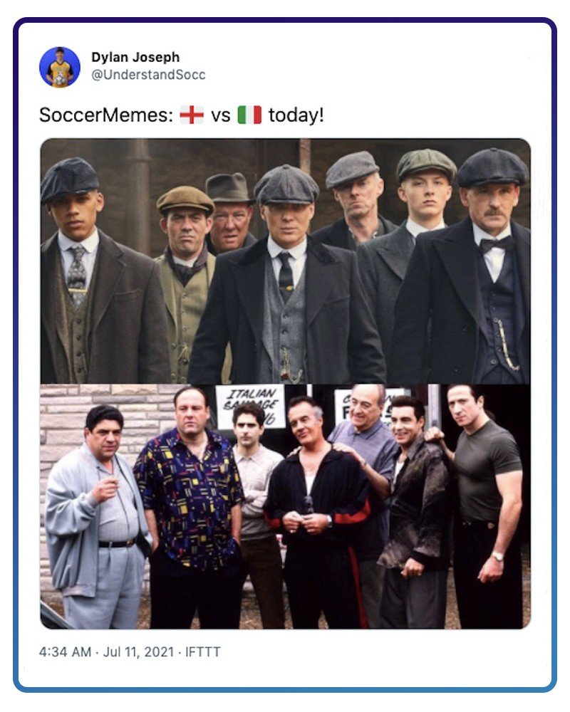 Image of Peaky Blinders and image of The Sopranos