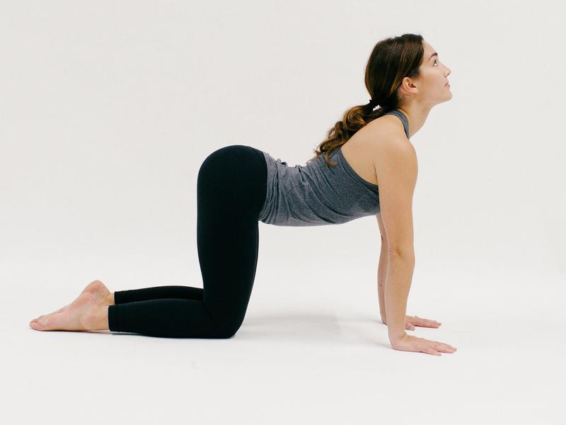 Cow Pose - 10 Minutes of Yoga to Jumpstart Your Work Day  IMAGES, GIF, ANIMATED GIF, WALLPAPER, STICKER FOR WHATSAPP & FACEBOOK