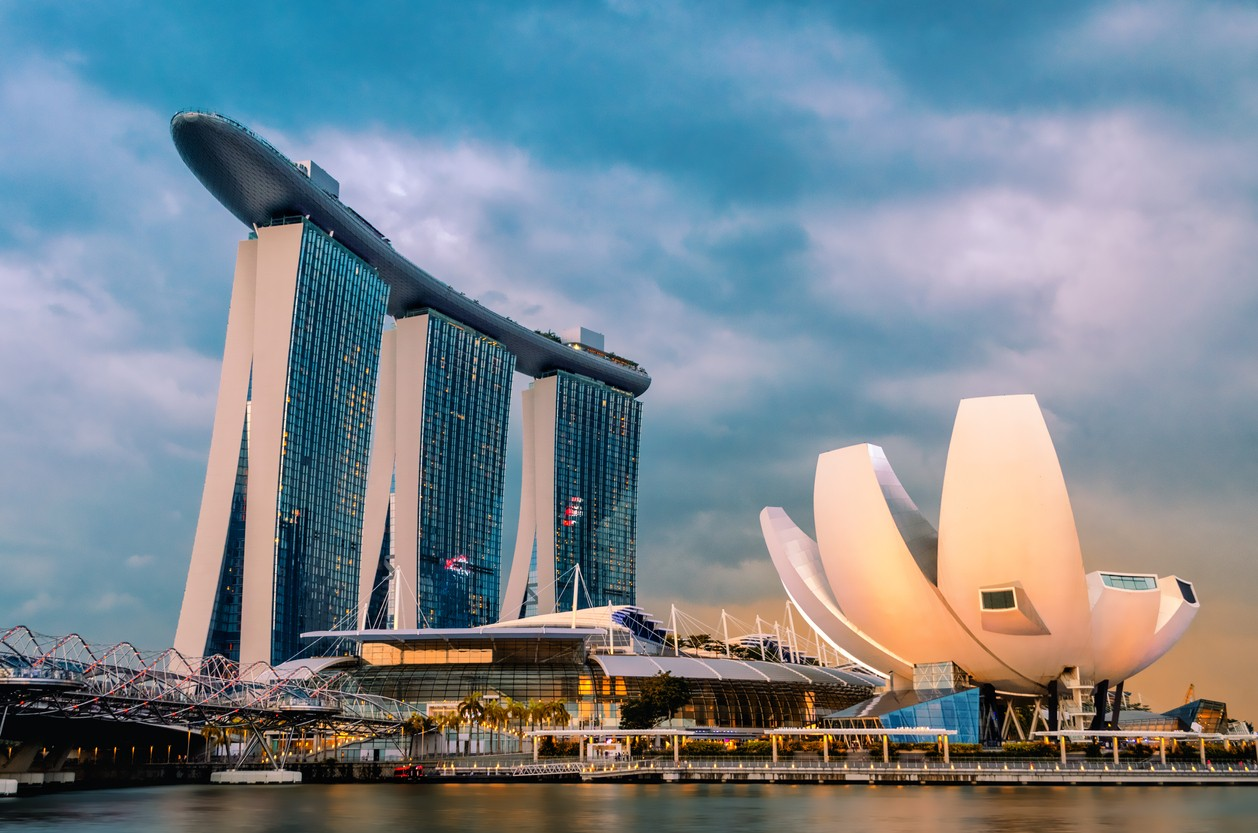 ArtsScience Museum and Marina Bay Sands
