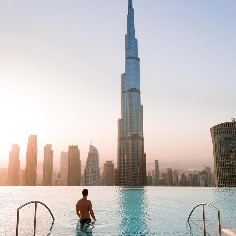 Pool In the Sky in Dubai