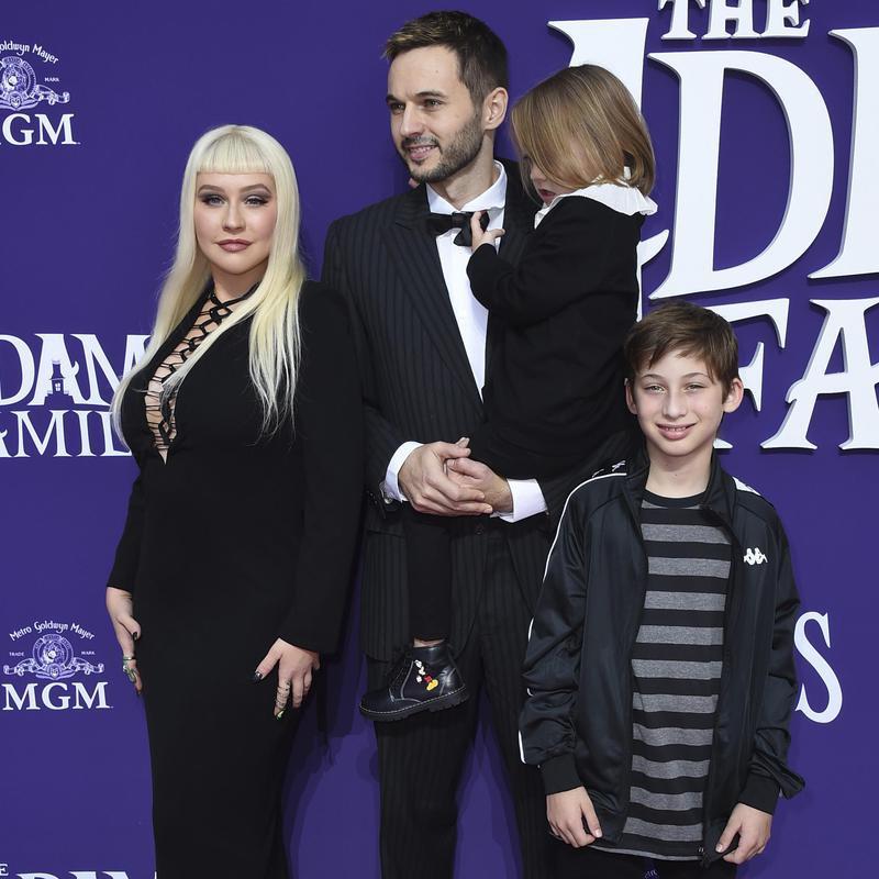 Christina Aguilera arrives with Jordan Bratman