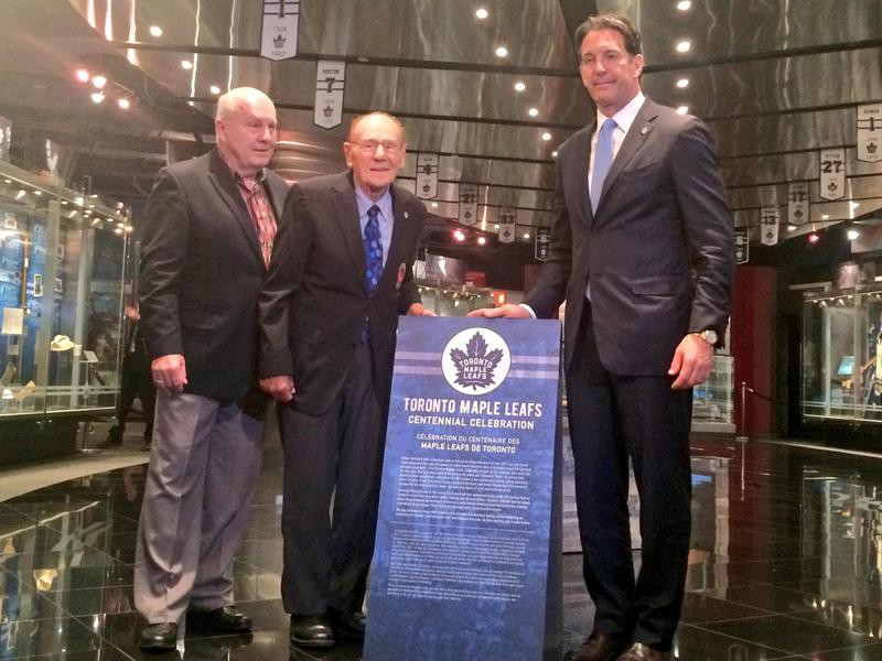 Ron Ellis, Johnny Bower and Brendan Shanahan