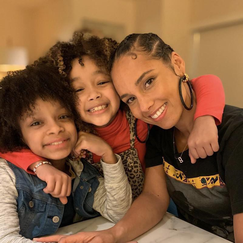 Alicia Keys and Her Sons