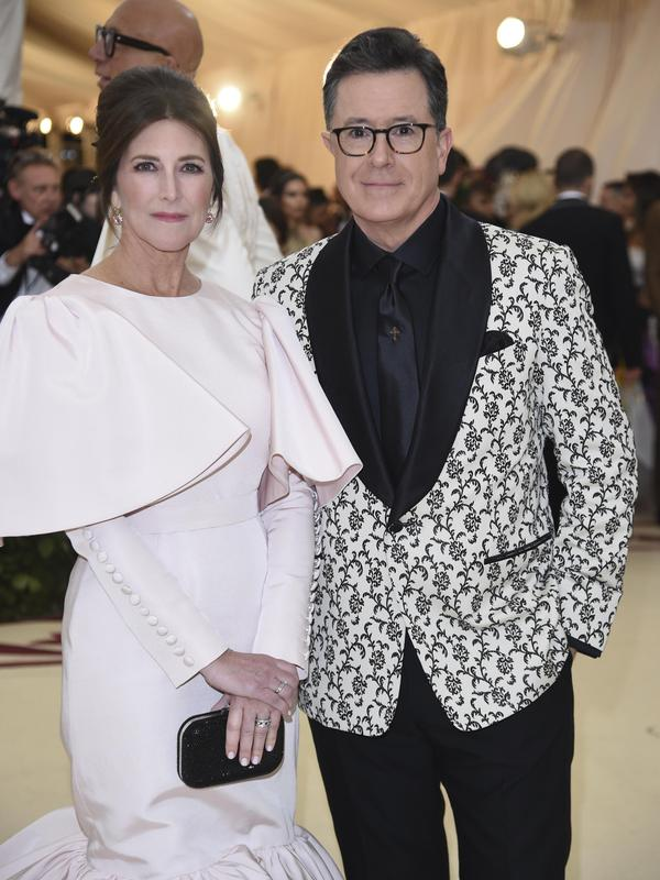 Stephen Colbert and his wife