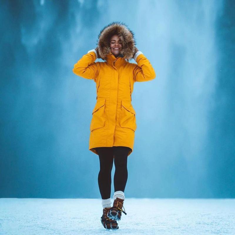 Carmen Huter in cold landscape