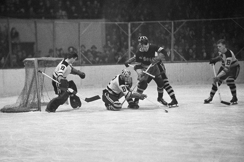 Boston Bruins defenseman Eddie Shore