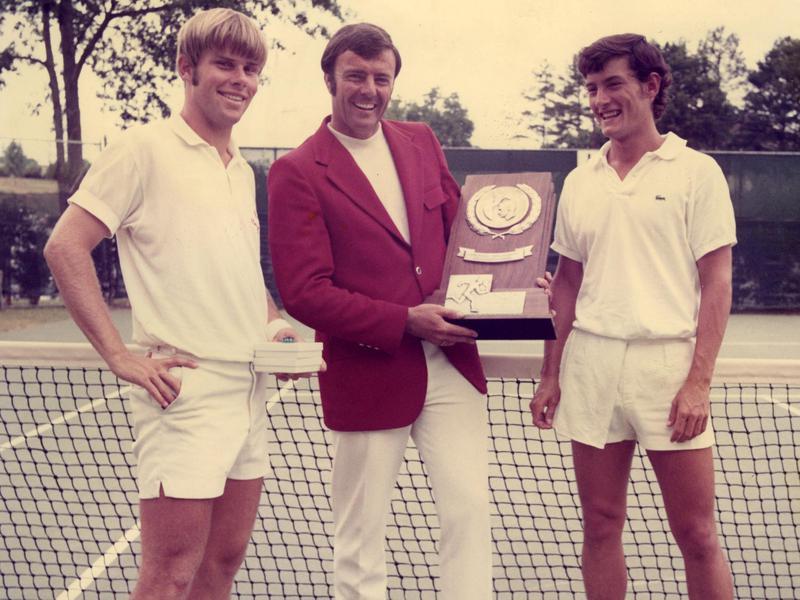 Roscoe Tanner, Dick Gould, Sandy Mayer