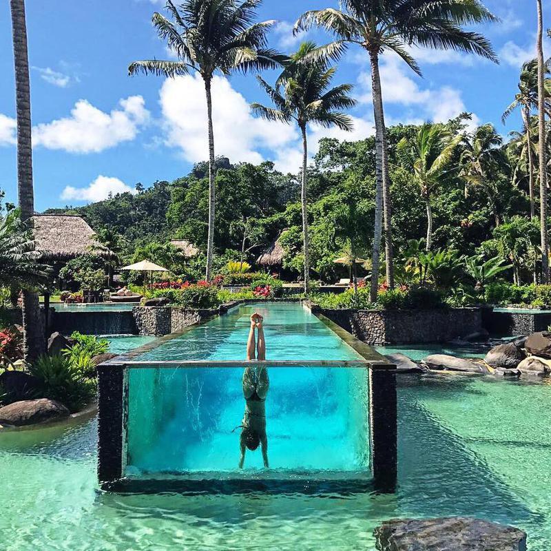 Laucala Island Resort pool in Fiji