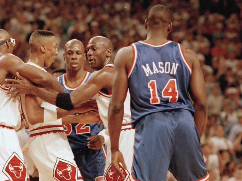 Scottie Pippen, Horace Grant, Michael Jordan