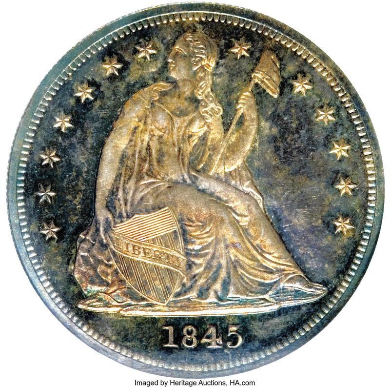 1845 Seated Liberty
