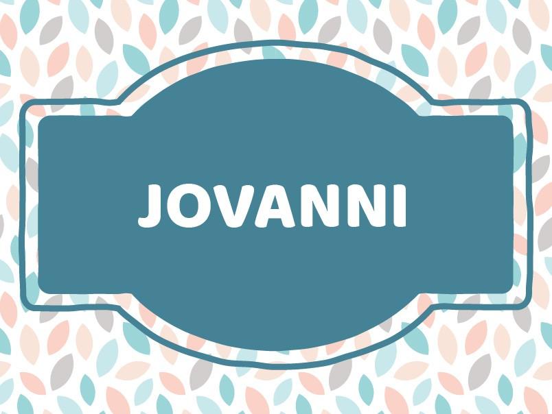 J Name Ideas: Jovanni