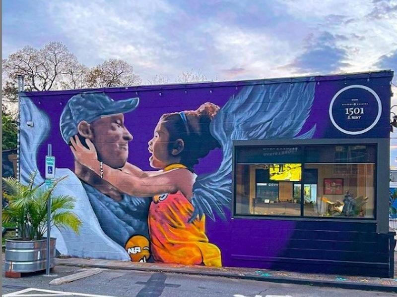 Kobe Bryant mural in North Carolina