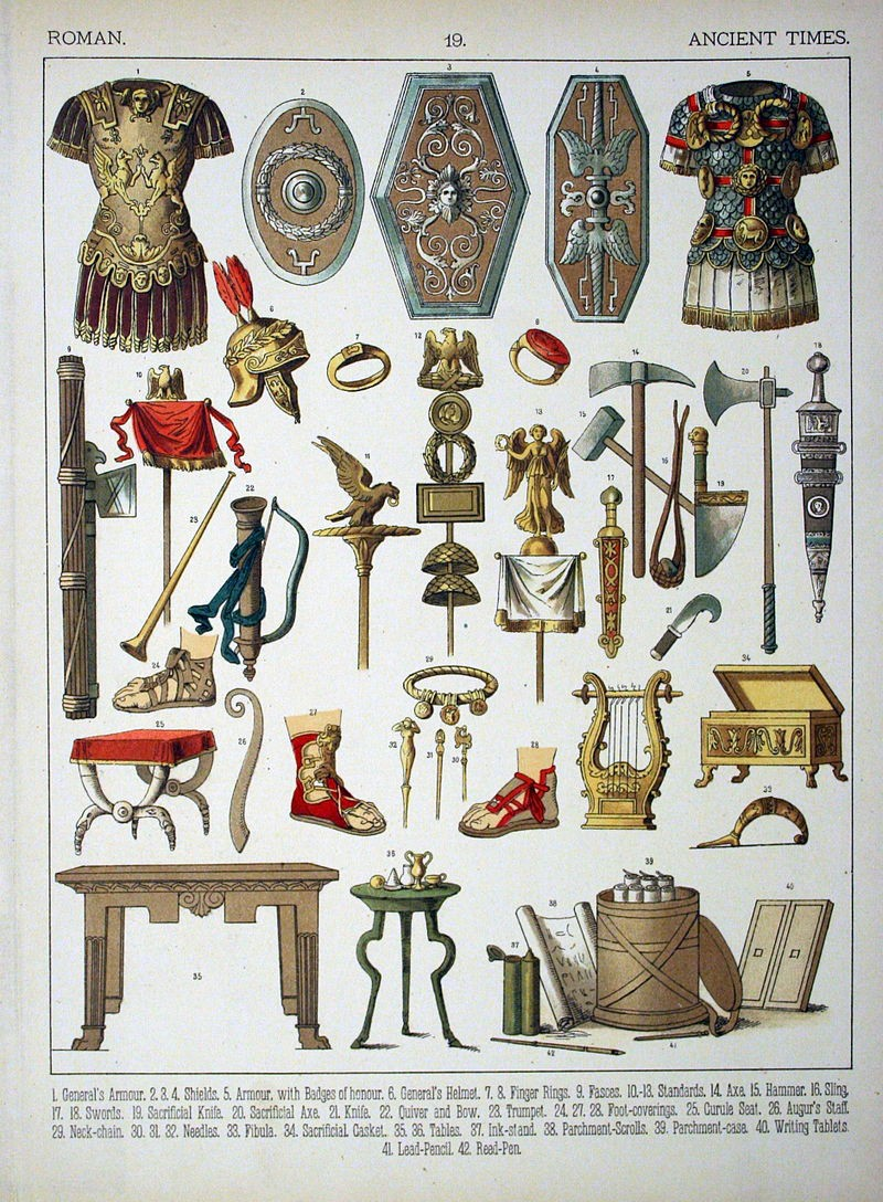 Roman equipment and valuables