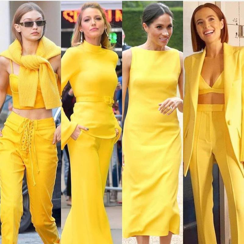 Illuminating yellow style trend