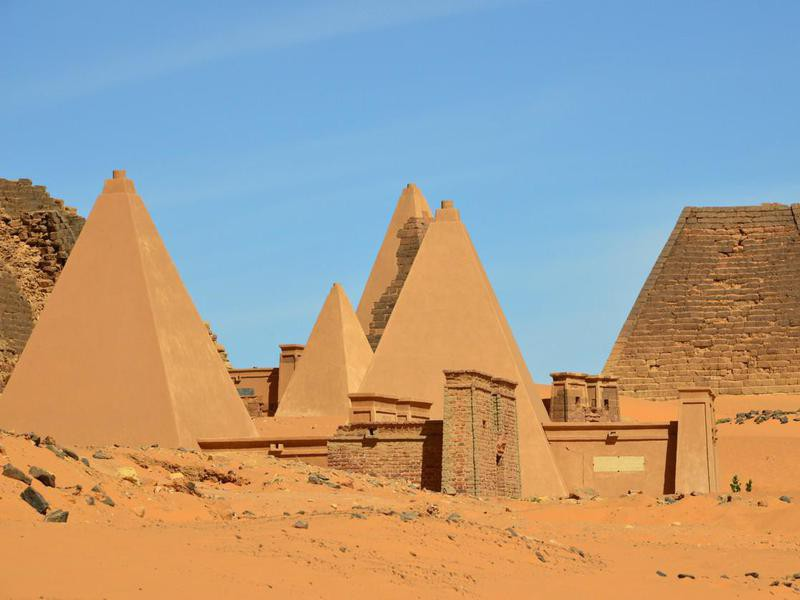 Nubian tombs in the Sahara desert