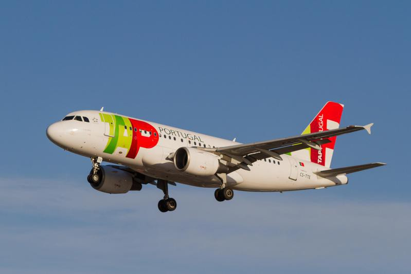 TAP Portugal plane in the air
