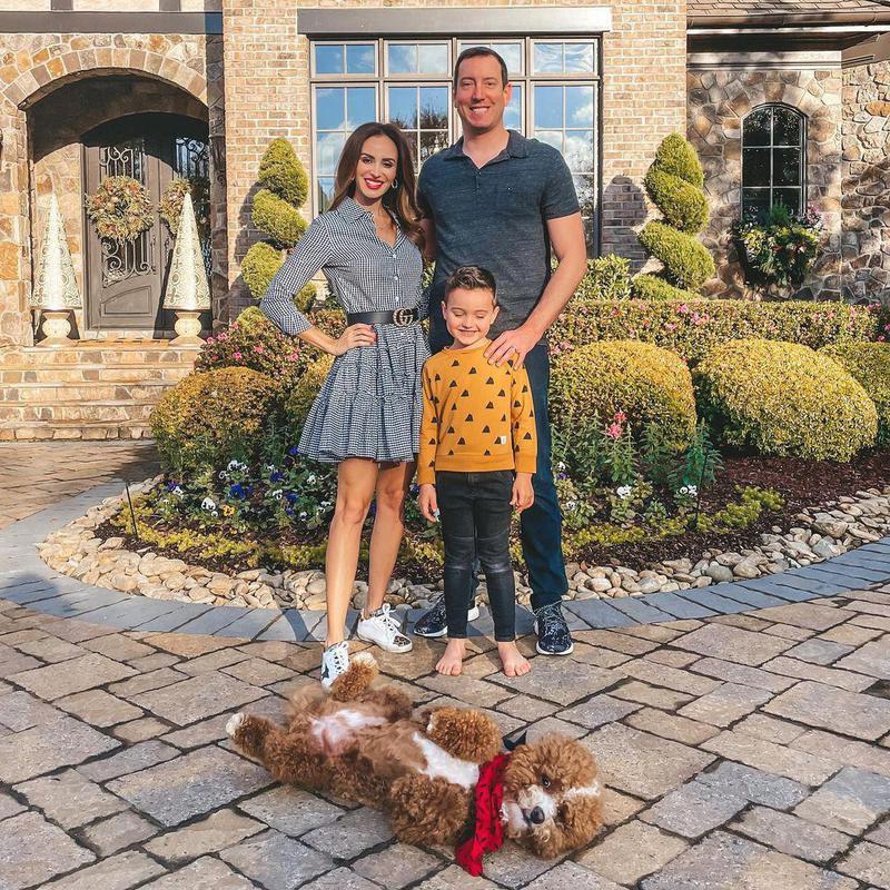 Kyle Busch, Samantha Busch and Brexton Busch