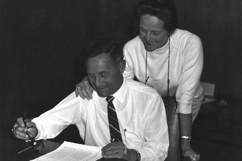 Wilbert Gore (left) and Genevieve Gore