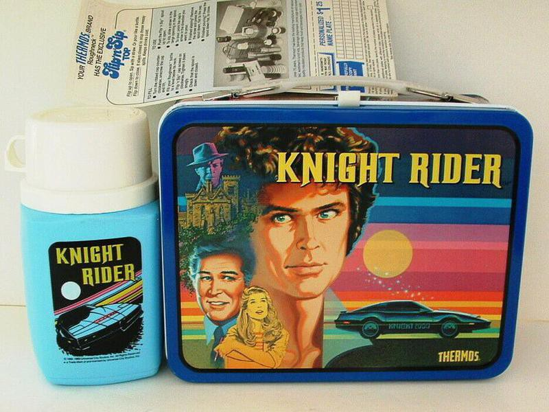 Knight Rider thermos and lunch box