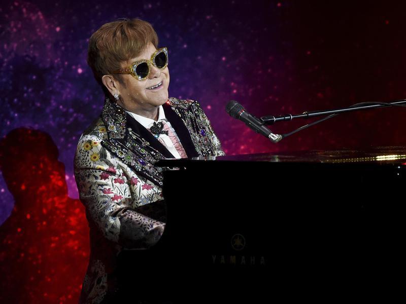 Elton John on piano