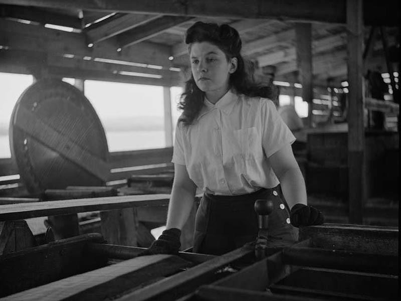 Young Woman Working in a Blouse